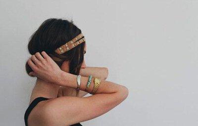 髮帶穿搭造型 髮帶變化怎麼綁 歐美波希米亞