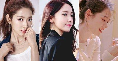 韓國明星垂墜流線耳環耳夾珍珠細緻
