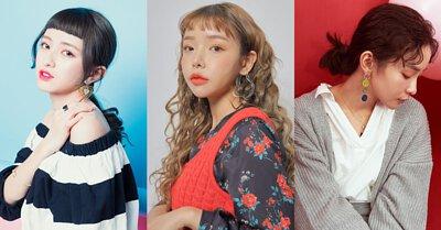 韓國明星垂墜流線耳環耳夾珍珠細緻蕾絲流蘇壓力克