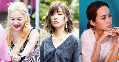 韓國明星垂墜流線耳環耳夾珍珠細緻蕾絲流蘇編織串珠