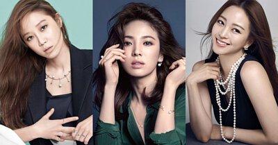 韓國珍珠明星耳環耳夾