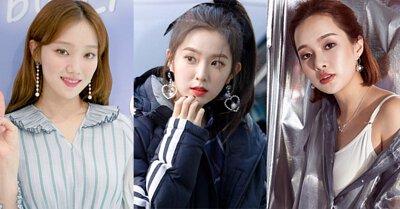 韓國珍珠明星耳環耳夾搭配