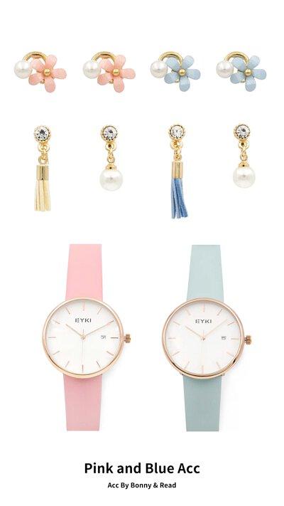 [韓國] 珍珠小花耳環  / 珍愛小流蘇耳環 /  珍愛小流蘇耳環