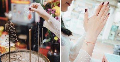 紅線 錢包 愛心戒指