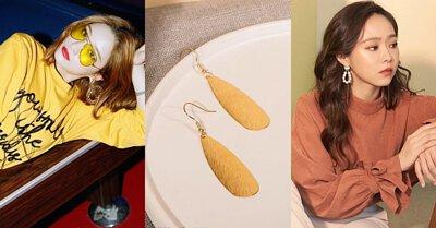 髮絲紋黃銅耳環 / 黃銅珍珠耳環