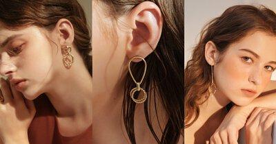 華麗貴氣 – 黃銅垂墜耳環