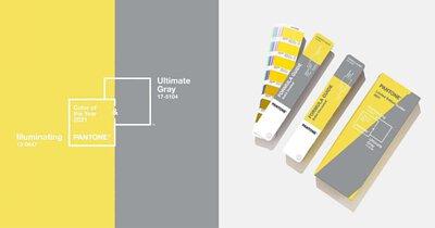 Pantone 年度代表色出爐,2021年就用極致灰與亮麗黃迎接新的開始