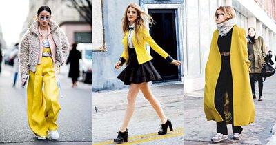 亮麗黃只要搭配基本色系,也能成為衣櫃必備色彩。