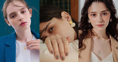 不論是耳環或項鍊,選擇灰與黃作搭配,讓穿搭瞬間更迷人。