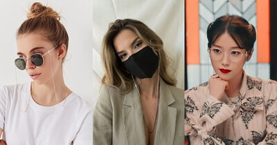 口罩鍊風靡日韓,知名韓星也在節目中配戴,鍊調式的設計戴上後如同復古眼鏡鍊的視覺效果