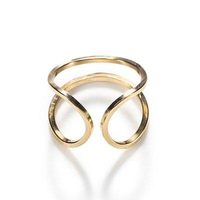 FEDE,Fedeboutique,by boe,項鍊,飾品,弧形戒指,by boe 雙線C型開口戒指,