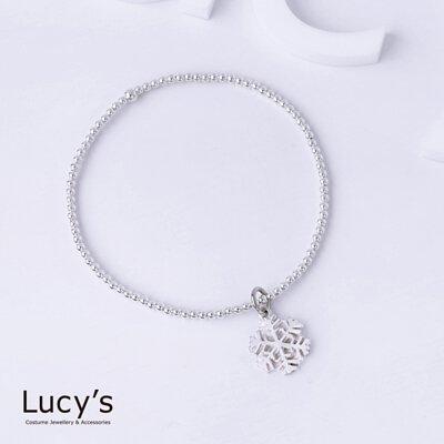 925純銀 雪之華 彈性手環