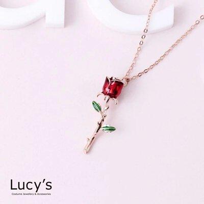 925純銀 永生玫瑰 項鍊