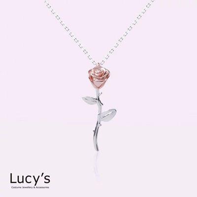 925純銀 玫瑰獨秀 項鍊