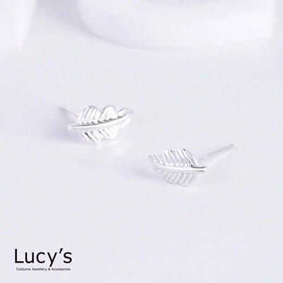 925純銀 清新葉脈 耳環