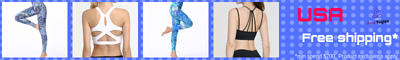 Free shipping to the USA. Find your affordable yoga wear here.