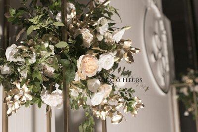 希朵花藝婚禮佈置 白裸膚金 寒舍艾莉