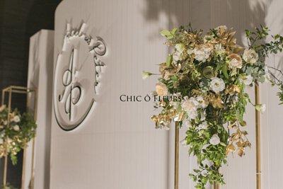 希朵花藝婚禮佈置白裸膚金寒舍艾莉