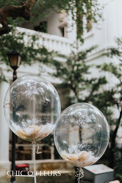 氣球 戶外婚禮