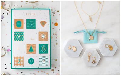 字母項鍊,項鍊,飾品,配件,禮物,閨蜜,orelia,降臨曆,耶誕倒數日曆,倒數日曆