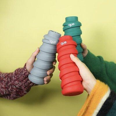 que bottle,que,水瓶,摺疊水瓶,摺疊杯,環保杯,環保,無痕生活,環保美物,環保水瓶,矽膠水瓶