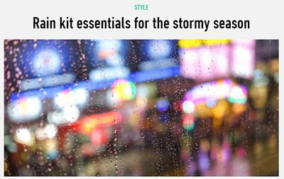 助你安渡雨季的購物清單 Rain kit essentials for the stormy season