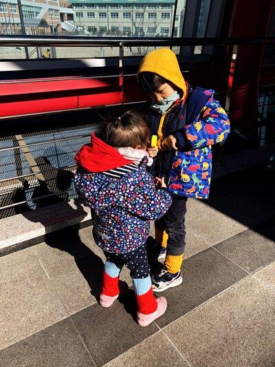 韓國穿搭,JoJo Maman Bebe, 防雨外套, 襪套, Knit Planet,保暖配件