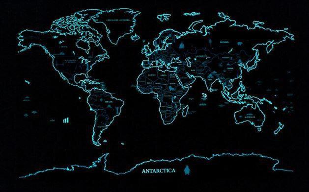 刮刮樂世界地圖