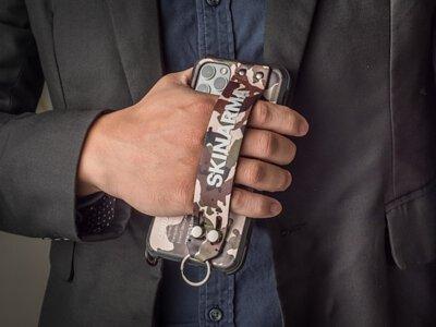 【 開箱 】迷彩控必看・Skinarma ・迷彩系列 腕帶支架軍規防摔 iPhone 手機保護殼