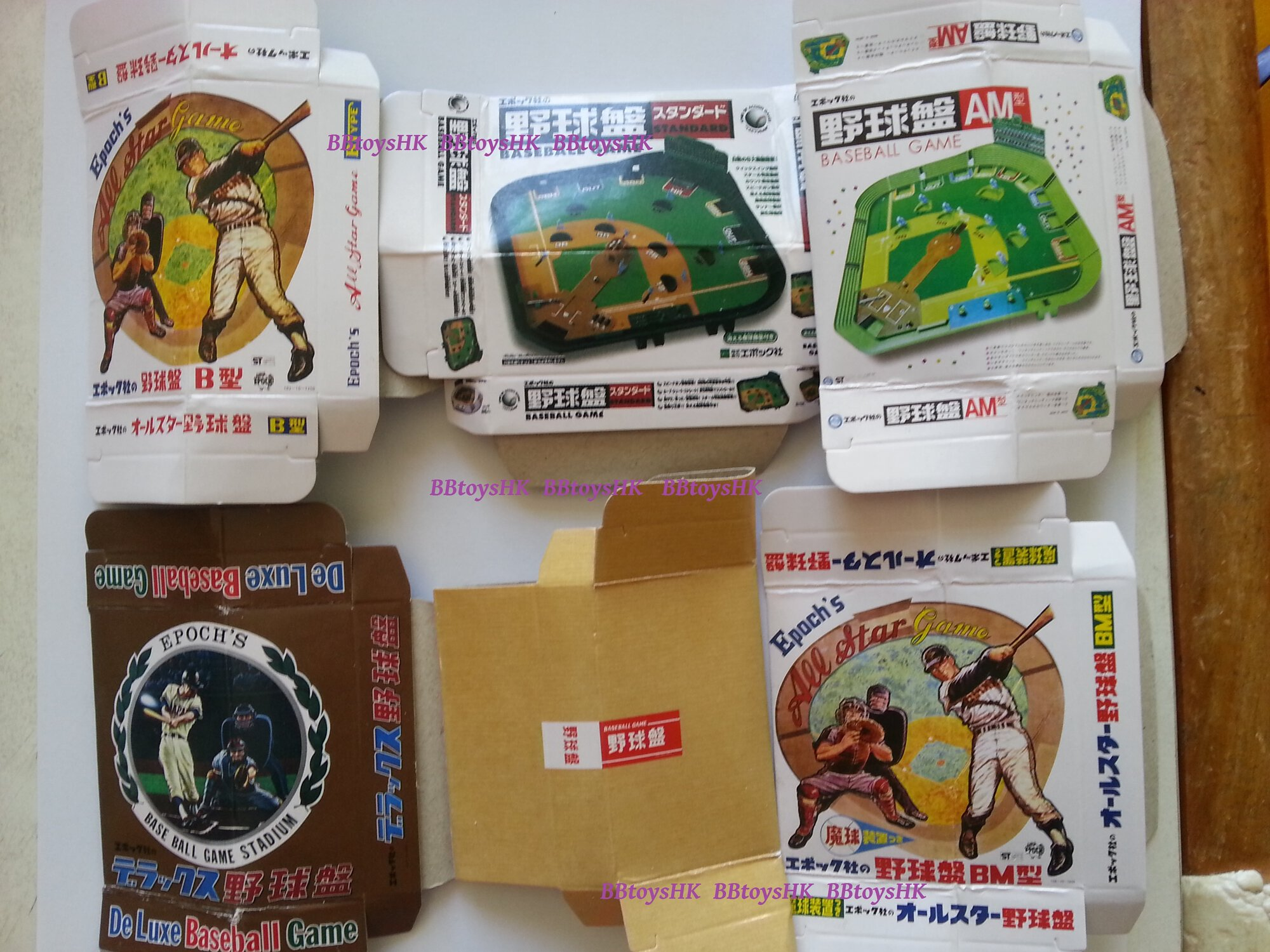 Epoch Capsule Miniature Vintage Japan Baseball game Full Set of 6 pieces