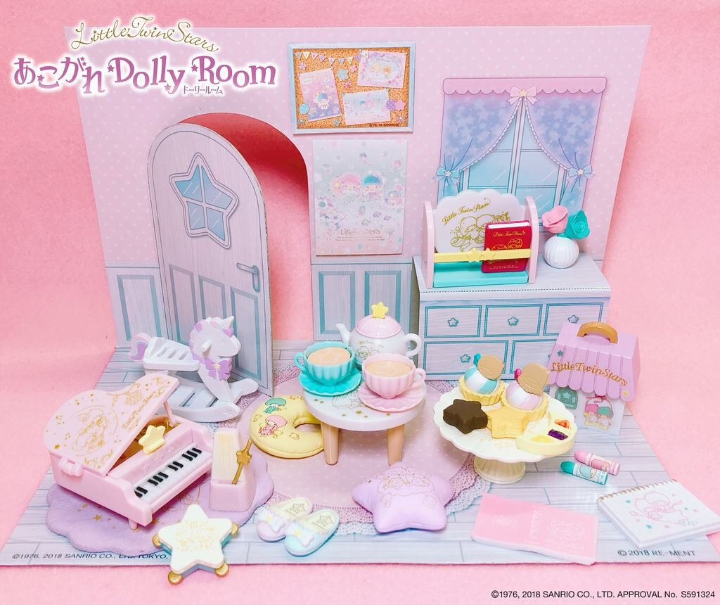Re-ment Little Twin Stars Dolly Room Cake Tea Set No.5