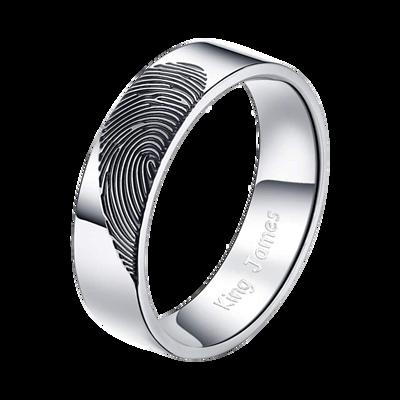 指紋戒指,內圈不做黑刻字