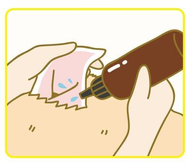寵物清耳朵步驟一:將極淨潔耳液倒入狗狗貓咪耳朵至快要滿出來為止。