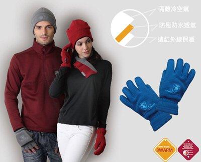 防風透氣保暖手套湖水藍