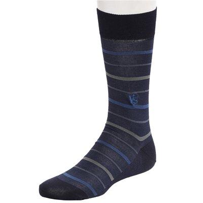 銀盾男格紋紳士襪