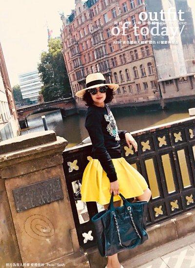 檸檬黃澎澎大圓裙短裙 / Yellow midi skirt / gift me love 愛禮訂製時裝店