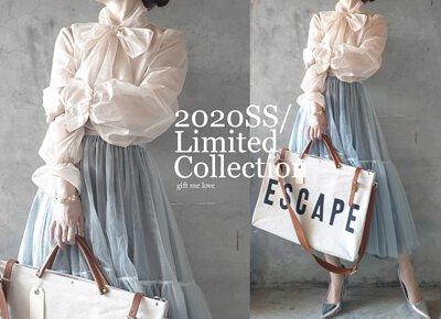 褪色丹寧(灰藍色)限量隱藏版特別色 4層手工拼接紗裙