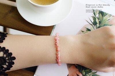【限量回饋價】印加玫瑰純銀手鍊(紅紋石)