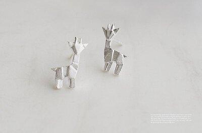 羊駝純銀耳環