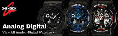 casio gshock standard analog digital watch