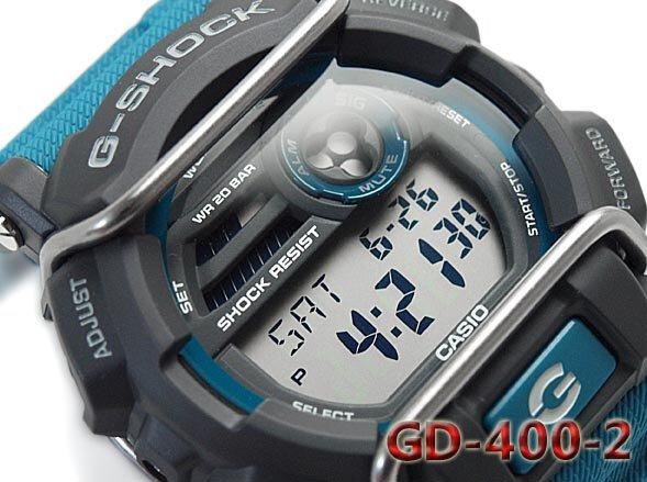 quality design ad56b 330f4 Buy Casio G-Shock GD-400-2 Blue Digital Men's Watch
