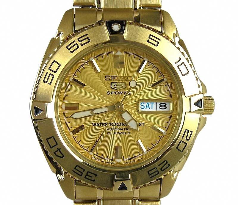 b3233164c Buy Seiko 5 Sports SNZB26J1 Automatic Gold Men's Watch