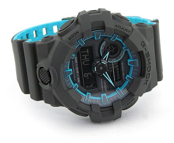 uk availability c638b 56e9d Buy Casio G-Shock GA-700SE-1A2 Black x Blue Men's Watch