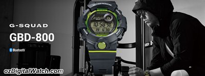 G-Shock G-SQUAD Health and Fitness Bluetooth Digital Men's Watch
