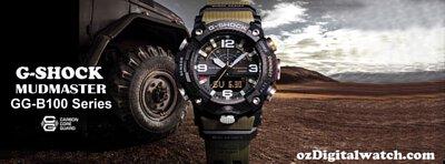G-Shock Mudmaster x Carbon Core Quad Sensor Step Counter Solar Bluetooth Men's Watch