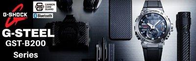 G-Shock G-Steel x Carbon Bluetooth Solar Analog Digital Men's Watch