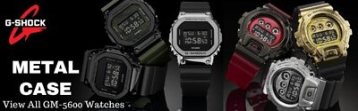 Casio G-Shock Metal Case Square Face Digital Men Watch GM-5600 GM-6900