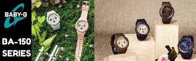 Casio Baby-G BA-150 Series Analog Digital Women Watch