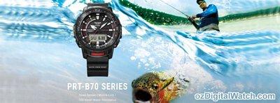 Casio PROTREK Fishing Feature Quad Sensor Smartphone Link Bluetooth Tide Graph Moon Data Men Watch