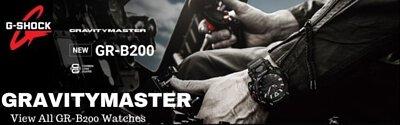 Casio G-Shock Gravitymaster  x Carbon Core Quad Sensor Step Counter Solar Bluetooth Men's Watch GR-B200